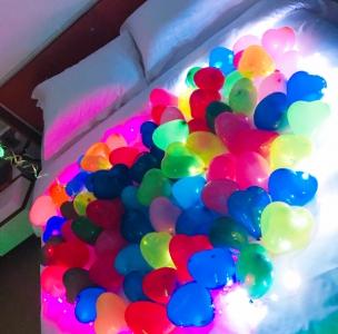 LEDライトを使用した装飾に行ってきました♥